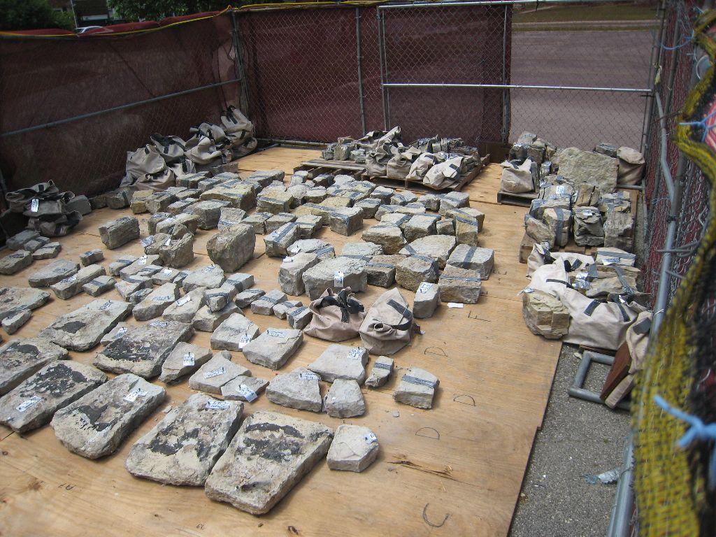 Careful-cataloging-of-turret-stones-June-2020sm